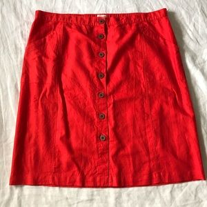 Universal Thread Skirts - Universal Thread // NWOT Button Front Linen Skirt